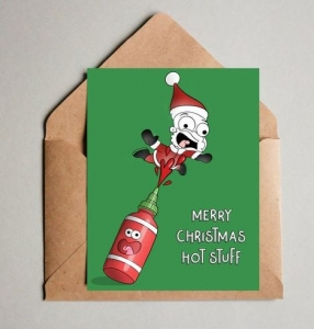 Naughty Christmas Cards - hot stuff