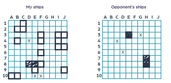 Battleship game rules grids